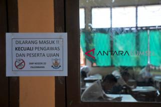 Sejumlah SMP laksanakan Ujian Nasional Kertas Pensil di Palembang
