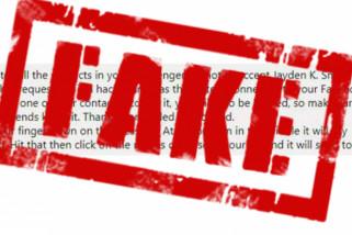 Enam tahun penjara untuk penebar berita bohong