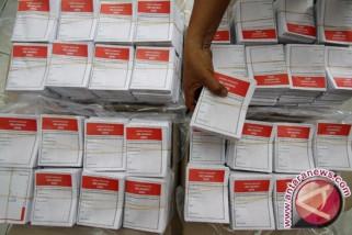 KPU: Surat suara Pilkada Sumsel selesai dilipat