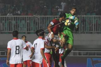 Timnas U-23 Indonesia dikalahkan Bahrain 0-1