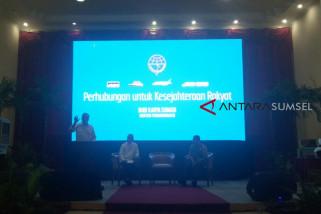 Menhub : Sumsel dapat investasi paling besar di luar Jawa