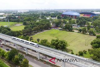 Pembangunan LRT Palembang capai 95 persen