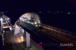 Uji Coba Perdana LRT Palembang