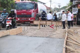 Perbaikan jalan Gandus Palembang 1 Km telan dana Rp5,8 miliar