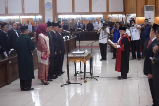 DPRD Sumsel gelar paripurna pelantikan tiga anggota PAW