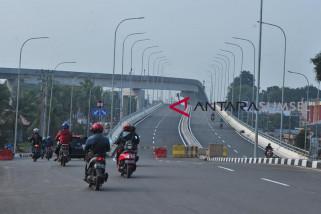 Pembangunan  Flyover Simpang Bandara Palembang mulai digunakan