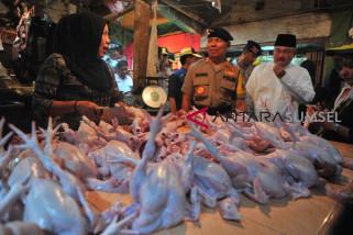Gubernur Sumsel cek pasar jelang lebaran