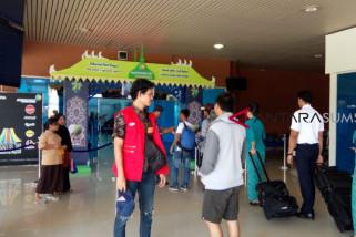 Pergerakan penumpang Bandara SMB II mulai meningkat(VIDEO)