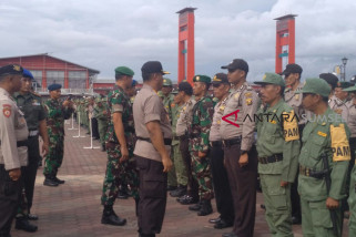 Jelang pencoblosan, Polresta Palembang gelar apel pengamanan