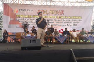 Panwaslu Palembang minta Timses lepas alat peraga kampanye