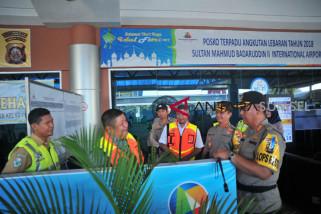 Kapolresta Palembang tinjau arus balik di bandara