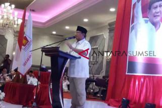 Prabowo hadiri halal bihalal di Palembang