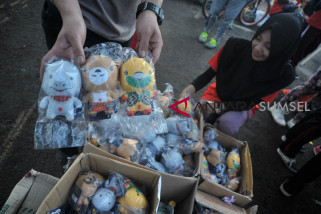 Asian Games (serba serbi) - Berburu boneka maskot Asian Games di Jakabaring