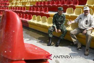 Gubernur Sumsel Tiunjau Kerusakan Stadion GSJ