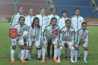 Sepak bola putri pertandingan pertama Asian Games Palembang