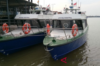 Empat bus air bantuan Kemenhub tiba di Palembang