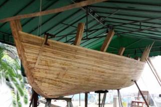 Menteri Susi luncurkan kapal bambu laminasi ITS
