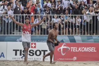 Asian Games (voli pantai) - Tim Indonesia raih medali perunggu voli pantai