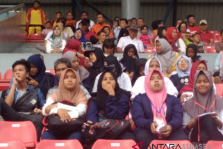 BUMN Hadir - Peserta SMN nonton pertandingan Asian Games
