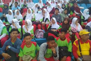 Diknas Sumsel kerahkan 1.000 pelajar jadi suporter