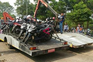 Dishub angkut motor polisi dan panitia Asian Games