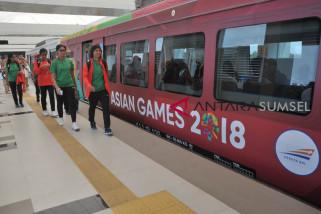 Selama Asian Games,  LRT Palembang angkut 10.000 atlet