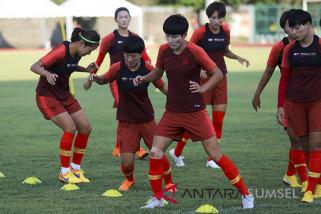 Latihan Timnas Sepak Bola Wanita China