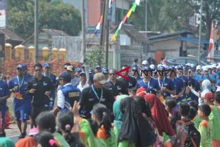 Perjalanan Obor Asian Games ke Banyuasin