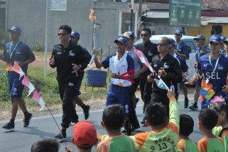 Asian Games torch arrives in Banyusasin