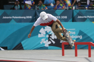 Asian Games (skateboard) - Pertandingan kualifikasi dua kali terhenti karena hujan