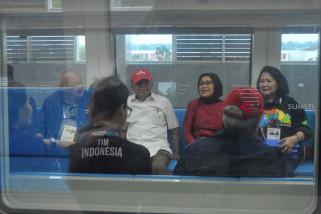 Wapres Coba LRT Palembang