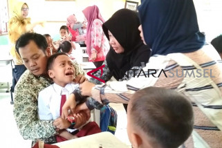 Capaian imunisasi MR di Muratara 99,15 persen