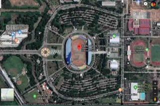 Melihat stadion Asian Games lewat Google Maps
