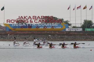 Asian Games (dayung) - Indonesia lolos ke final k4 500 meter