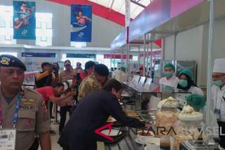 Asian Games (serba-serbi) - Kapolda Sumsel dan Pangdam coba makanan atlet