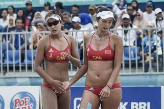 Asian Games - Tim voli pantai putri China taklukkan Indonesia 2-0