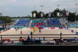 Asian Games (voli pantai)  - Indonesia taklukkan Hong Kong dua set