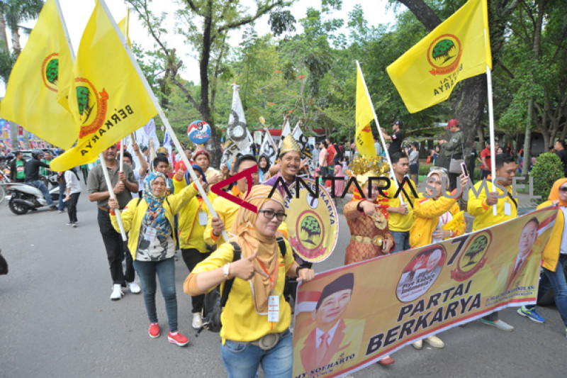 Karnaval Kampanye Peserta Pemilu Sumsel