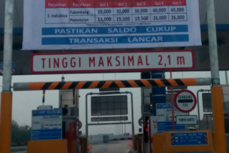 Ini tarif baru tol Palindra mulai berlaku 21 September