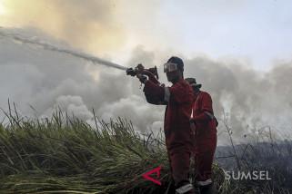 Kebakaran Lahan Di Indralaya Utara
