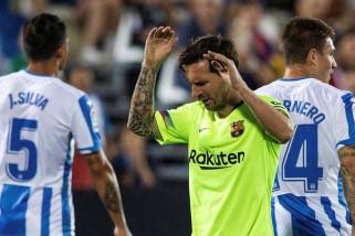 Leganes permalukan Barcelona  2-1