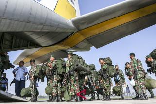 Prajurit Kostrad yang BKO di Sumsel kembali ke markas