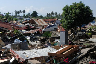Dampak tsunami di Palu
