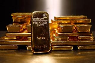Emas turun lagi tertekan kenaikan pasar ekuitas AS