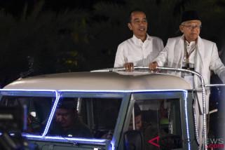 Pasangan Jokowi-Maruf nomor urut 1,  Prabowo-Sandiaga 2