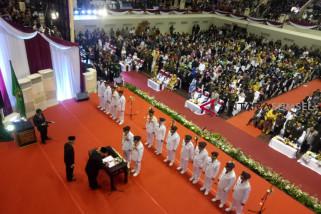 Empat wali kota dan tiga bupati di Sumsel resmi dilantik