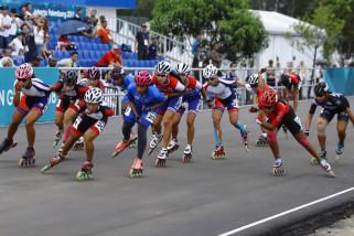 Asian Games (sepatu roda) - Saat Oky kehilangan tandem