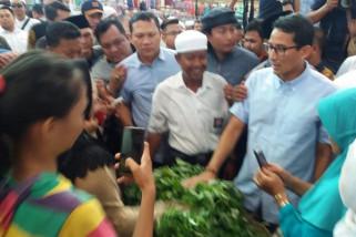 Sandiaga tampung aspirasi pedagang 10 Ulu Palembang