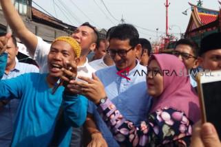 Masyarakat Palembang antusias sambut Sandiaga Uno