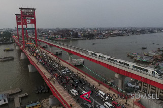 Masyarakat Palembang semakin mudah manfaatkan LRT